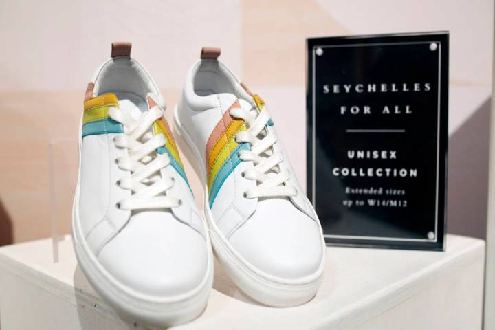 Seychelles' upcoming unisex collection projected to be sold in 2020, on display at the Seychell ...