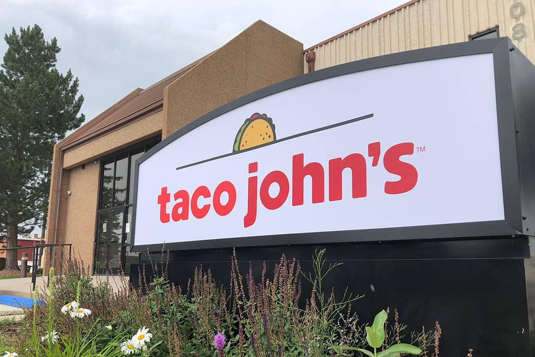 In this Aug. 1, 2019 photo the corporate headquarters of Cheyenne-based Taco John's, which has ...