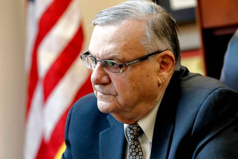 A court has scheduled arguments on Oct. 23 in former Sheriff Joe Arpaio's appeal of a ruling ...