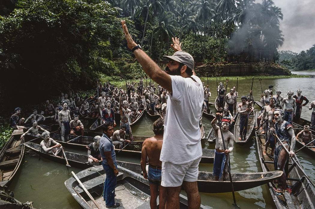 This image provided by Zoetrope Corp. shows director Francis Ford Coppola on location directing ...