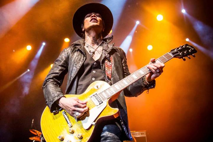 Stevie D. of Buckcherry performs during the 2015 ShipRocked Cruise, The Ultimate Rock N Roll Cr ...