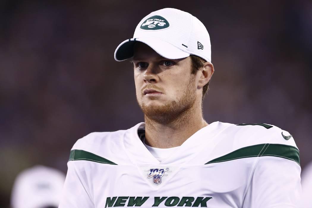 New York Jets quarterback Sam Darnold during the second half of a preseason NFL football game a ...