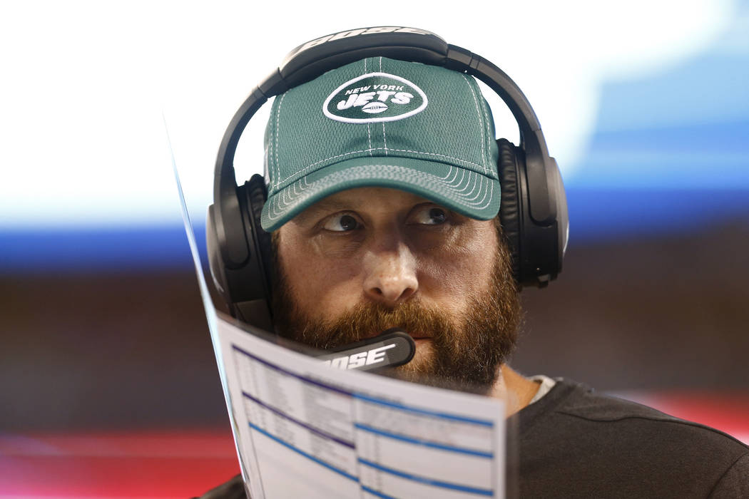 New York Jets coach Adam Gase watches his team play during the second half of a preseason NFL f ...