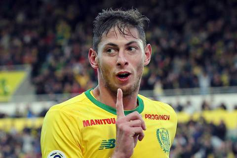 FILE - In this his file photo taken on Nov. 4, 2018, Argentine soccer player, Emiliano Sala, of ...