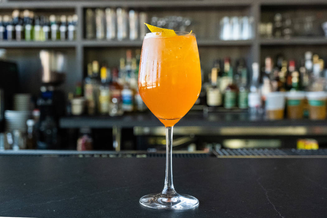 Make Locale's twist on an Aperol spritz. (Eugene Dela Cruz/OneSevenAgency.com )