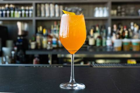 Make Locale's twist on an Aperol spritz. (Eugene Dela Cruz/OneSevenAgency.com )