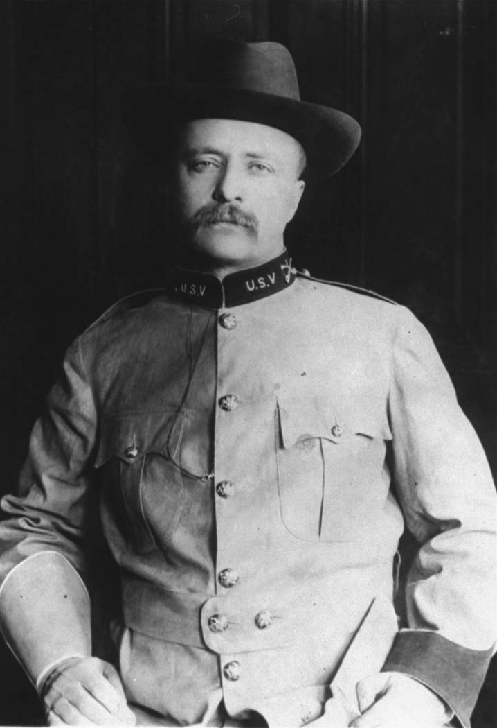 In this 1898 file photo, Colonel Theodore Roosevelt poses in his uniform as a Rough Rider. (AP ...