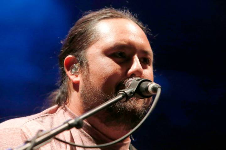 Iration singer, Micah Pueschel is seen at Reggae on the Rocks at Red Rocks Amphitheatre on Satu ...
