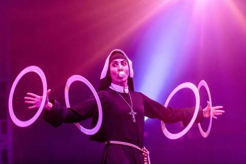 Fouzia 'Fofo' Raquez is shown performing as Sister Maria Immaculator Chorizo Perez Perez Pe ...