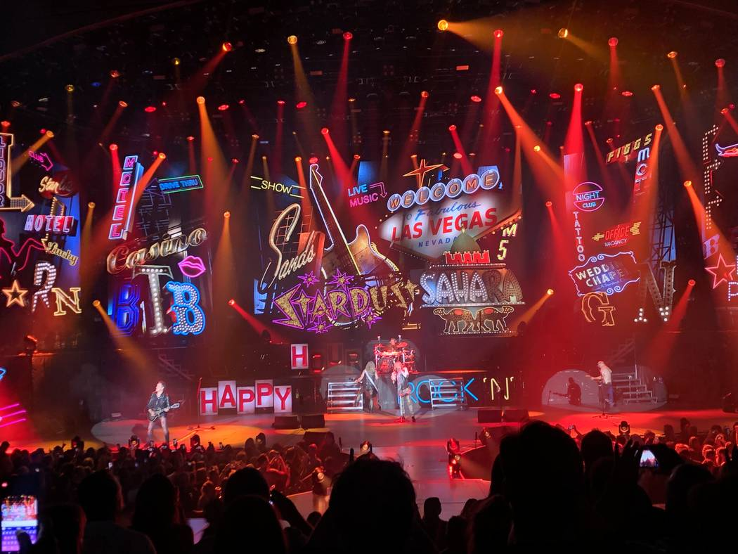 Def Leppard opens its 12-show residency run at Zappos Theater at Planet Hollywood on Wednesday, ...