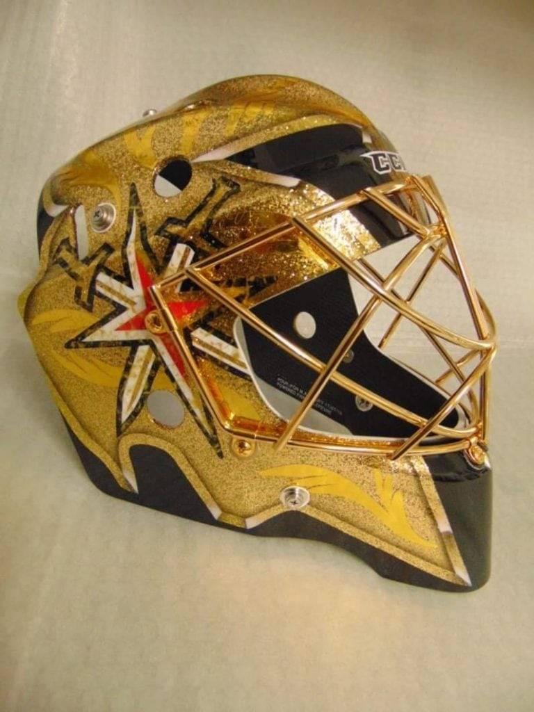 Golden Knights' Marc-Andre Fleury's new mask (InGoal Magaizine/Stephane Bergeron)