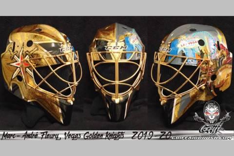 Golden Knights' Marc-Andre Fleury's new mask (InGoal Magazine/Stephane Bergeron)