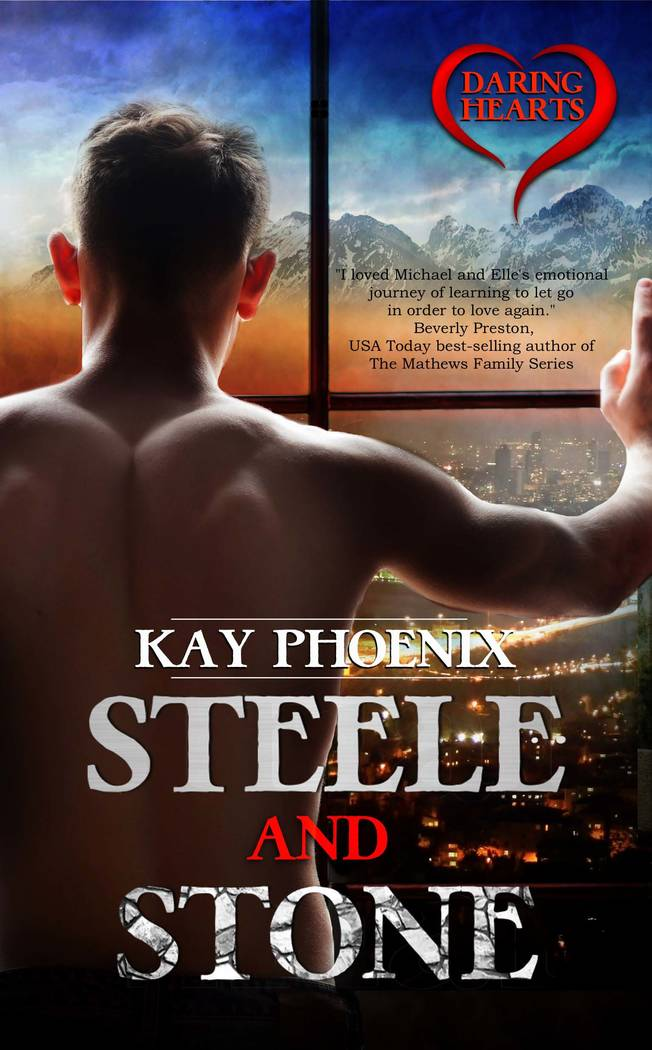 """Photo courtesy of Kristina Mull The book cover is shown for """"Steele and Stone."""""""