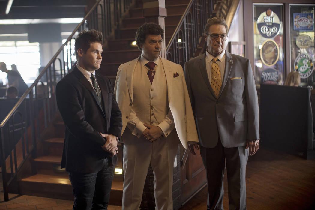 "Adam Devine, Danny McBride, John Goodman in ""The Righteous Gemstones."" (Fred Norris/HBO)"