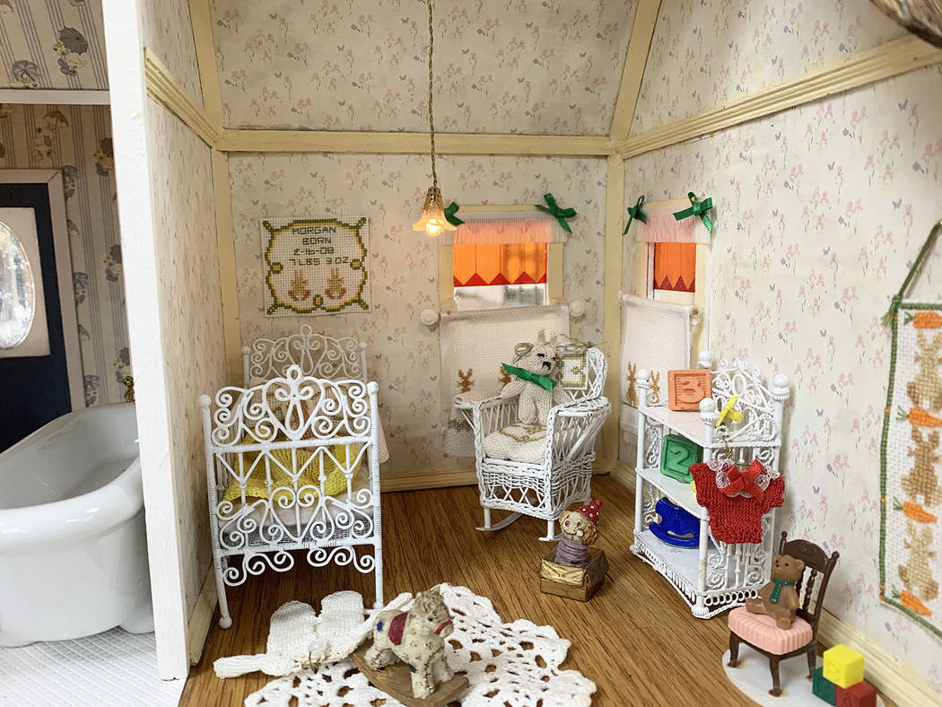 Vicki Ashenfelter, 76, mainly focused on a baby bedroom on the second floor of the Victorian do ...