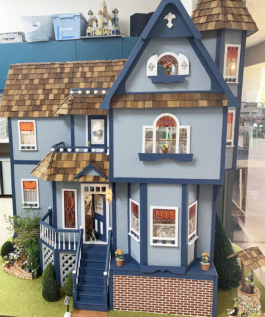 The dollhouse being auctioned on Oct. 5 was originally completed in 2008 and was refurbished in ...