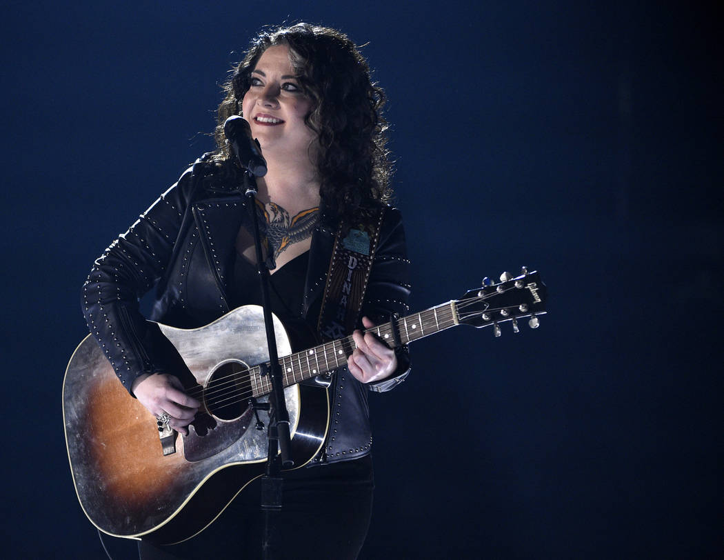 """Ashley McBryde performs """"Girl Goin' Nowhere"""" at the 54th annual Academy of Country Music Awards ..."""