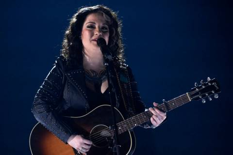 "Ashley McBryde performs ""Girl Goin' Nowhere"" at the 54th annual Academy of Country Mu ..."