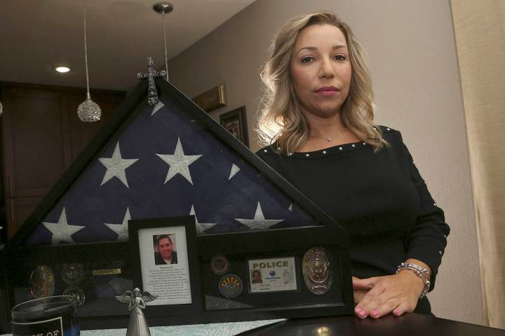 Rebecca Tiger, a former Phoenix police officer, is the widow of Craig Tiger, a Phoenix police o ...