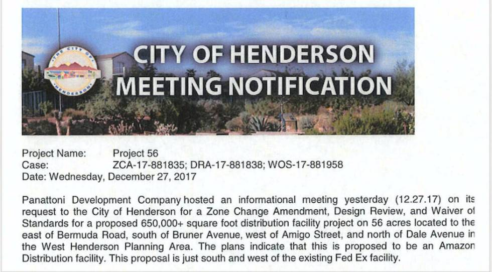 "A meeting-notification email from the city said the project plans ""indicate that this is prop ..."