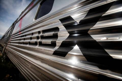 Club X Train on a track near Martin Luther King Boulevard and Bonanza Road in Las Vegas, Thursd ...