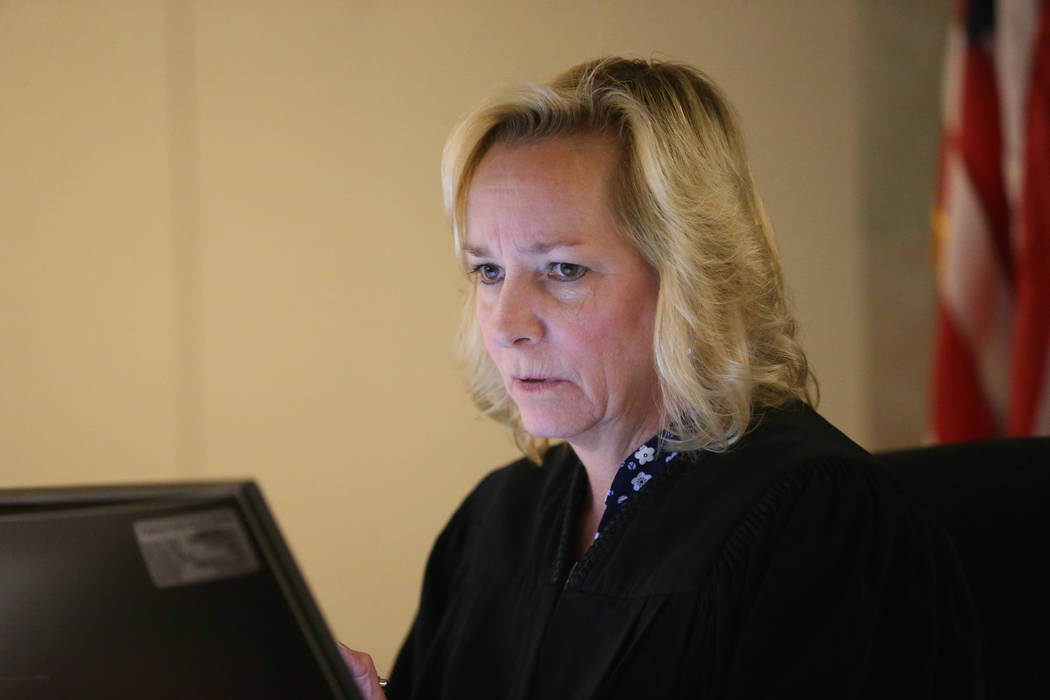 Judge Ann Zimmerman speaks during the initial court appearance for Antonio Antunez, charged wit ...