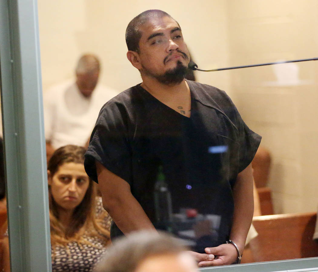 Antonio Antunez, charged with making terrorist threats, appears for his initial court appearanc ...
