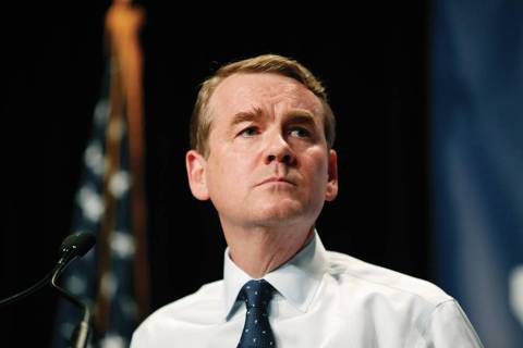 Democratic presidential candidate Michael Bennet. (AP Photo/Charlie Neibergall)