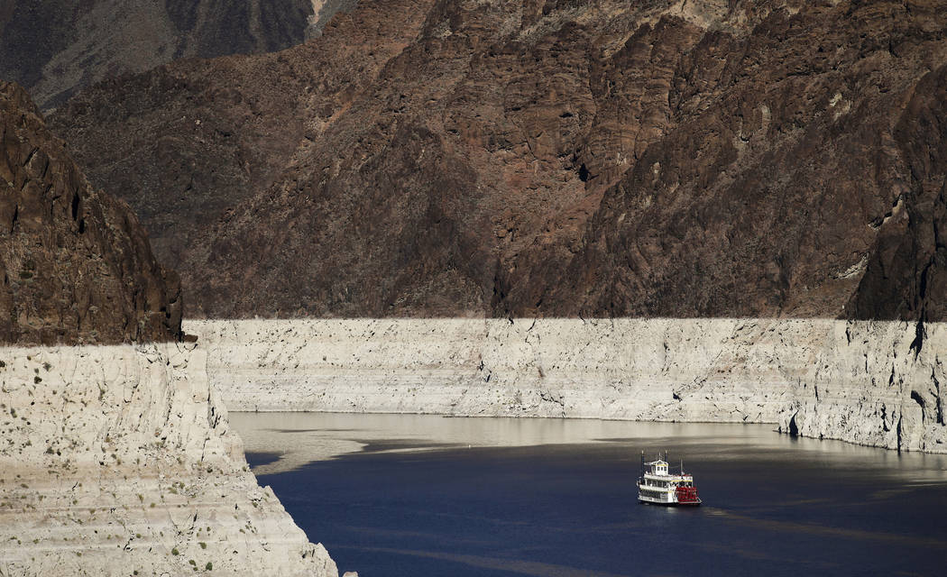 In this Oct. 14, 2015, file photo, a riverboat glides through Lake Mead on the Colorado River a ...