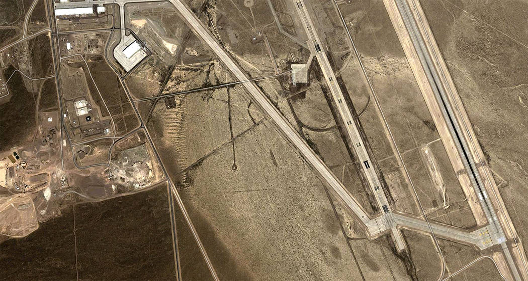 This Google map photo from 2014, shows a hangar, top left, built in recent years, similar to on ...