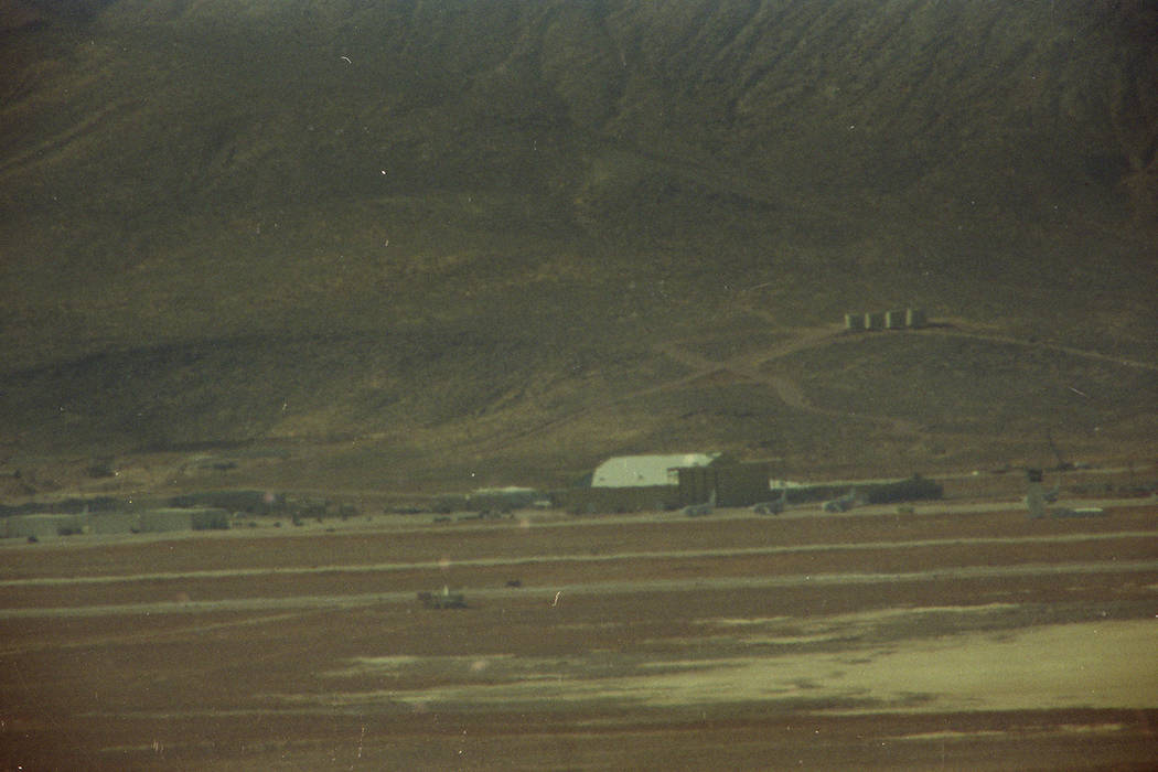 "Groom Lake where the secret military facility popularly known as ""Area 51"" is located, is seen ..."