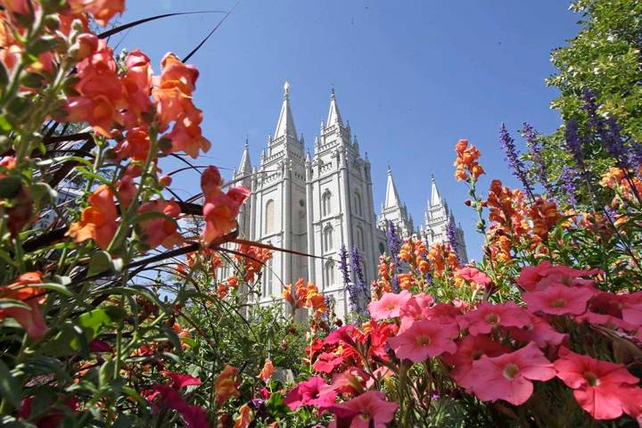 The Salt Lake Temple at Temple Square in Salt Lake City. The Church of Jesus Christ of Latter-d ...