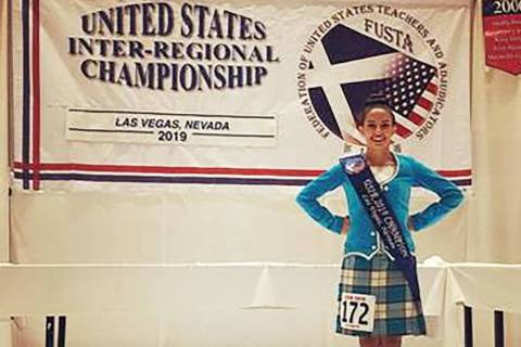 Erica Stewart, a sophomore at Coronado High School in Henderson, was the national champion amon ...