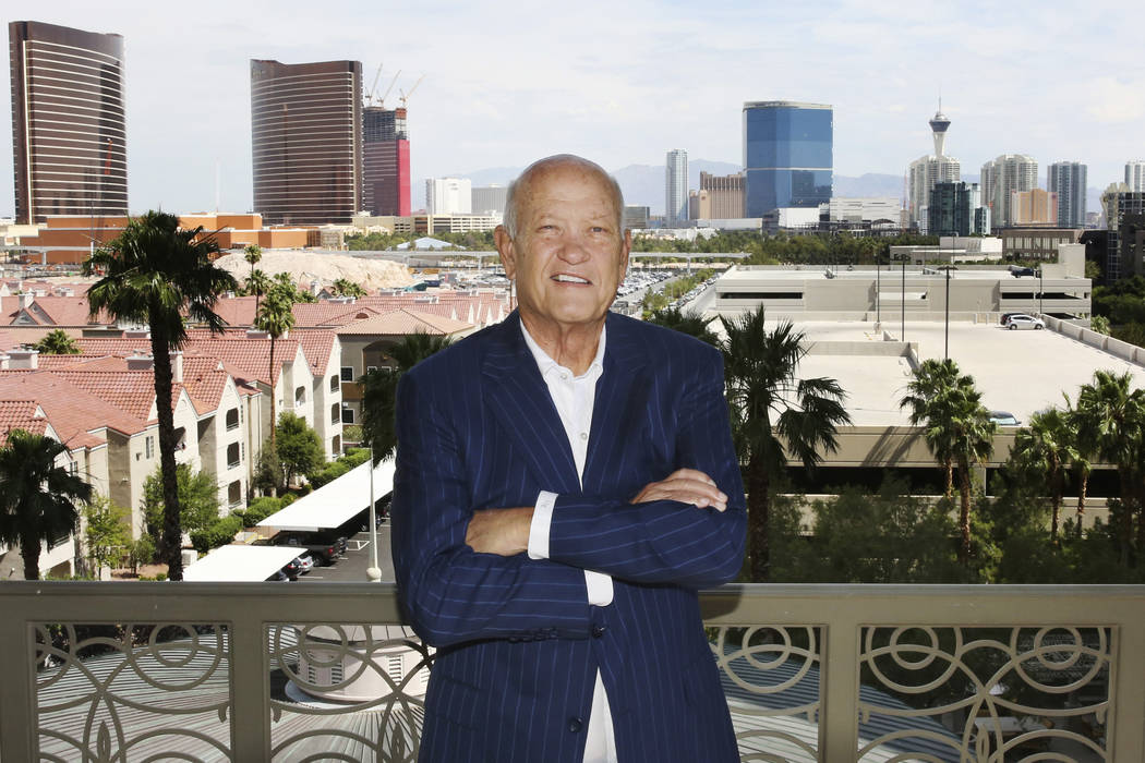 John Knott, broker, CBRE Group poses for photos at his Las Vegas condo on Friday, June 14, 2019 ...