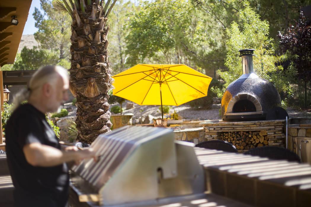 The backyard kitchen of Hubert Keller, chef of Fleur de Lys and Fleur, in Las Vegas, Thursday, ...