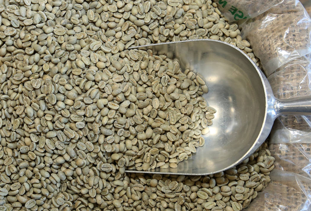 Organic Ethiopian coffee beans are displayed at Melkam Market, an Ethiopian store, on Thursday, ...