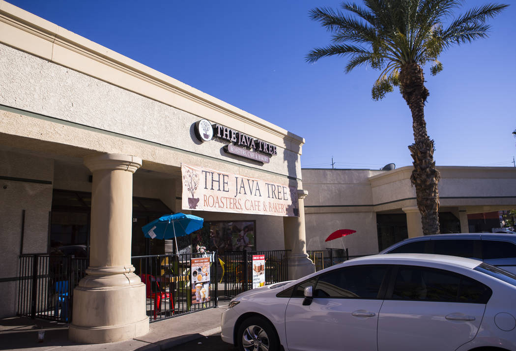 Java Tree at Flamingo Road and Decatur Boulevard in Las Vegas on Thursday, Aug. 15, 2019. (Chas ...