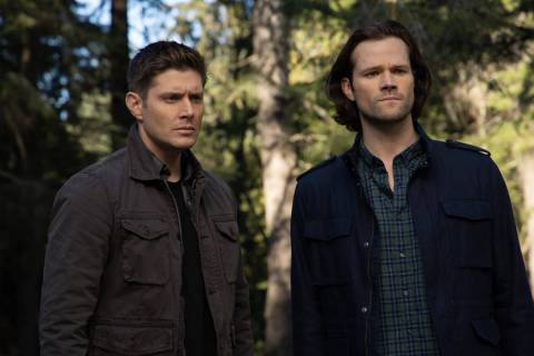 "Supernatural -- ""Moriah"" -- Image Number: SN1420c_0426r.jpg -- Pictured (L-R): Jensen ..."