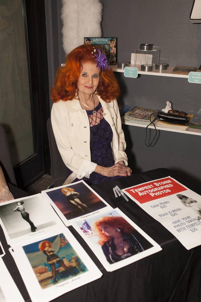 Burlesque legend Tempest Storm is shown during the opening of the Burlesque Hall of Fame at 10 ...