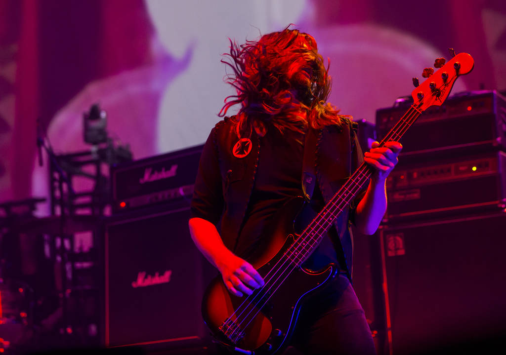 Haz Wheaton, of Electric Wizard, performs at the Mandalay Bay Events Center during the Psycho L ...