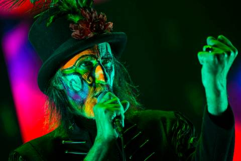 Arthur Brown of The Crazy World of Arthur Brown performs at the Mandalay Bay Events Center duri ...