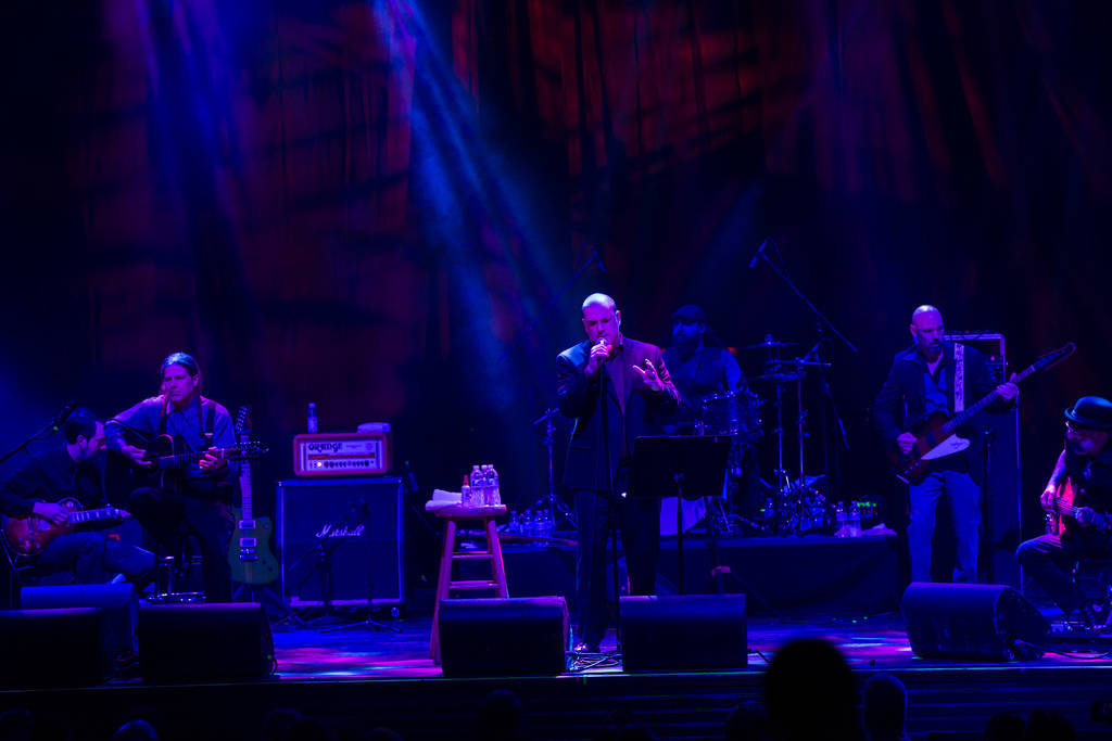 Philip Anselmo performs with his new band, En Minor, at House of Blues during the Psycho Las Ve ...
