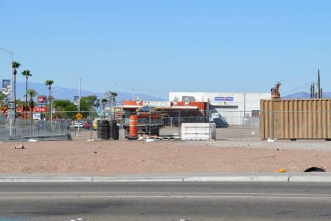 (Celia Shortt Goodyear/Boulder City Review) The staging area for Boulder City's complete street ...