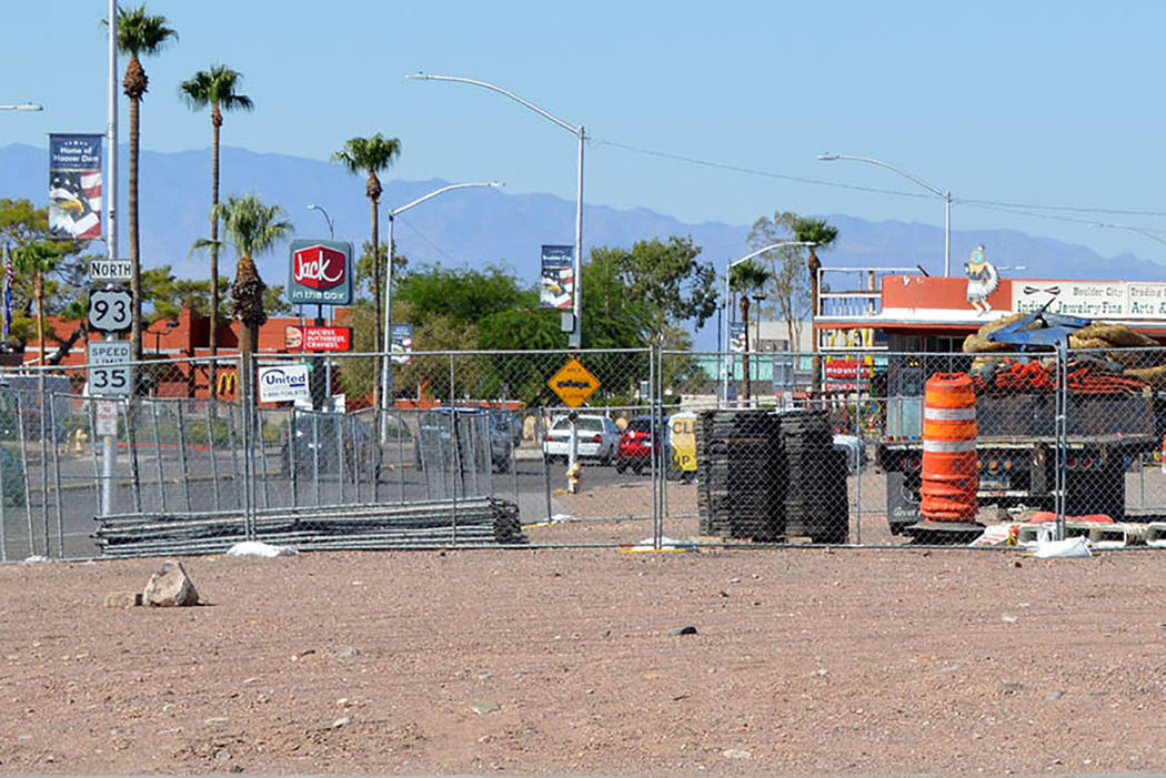 Boulder City's complete streets project started Monday, and its staging area is at the corner o ...