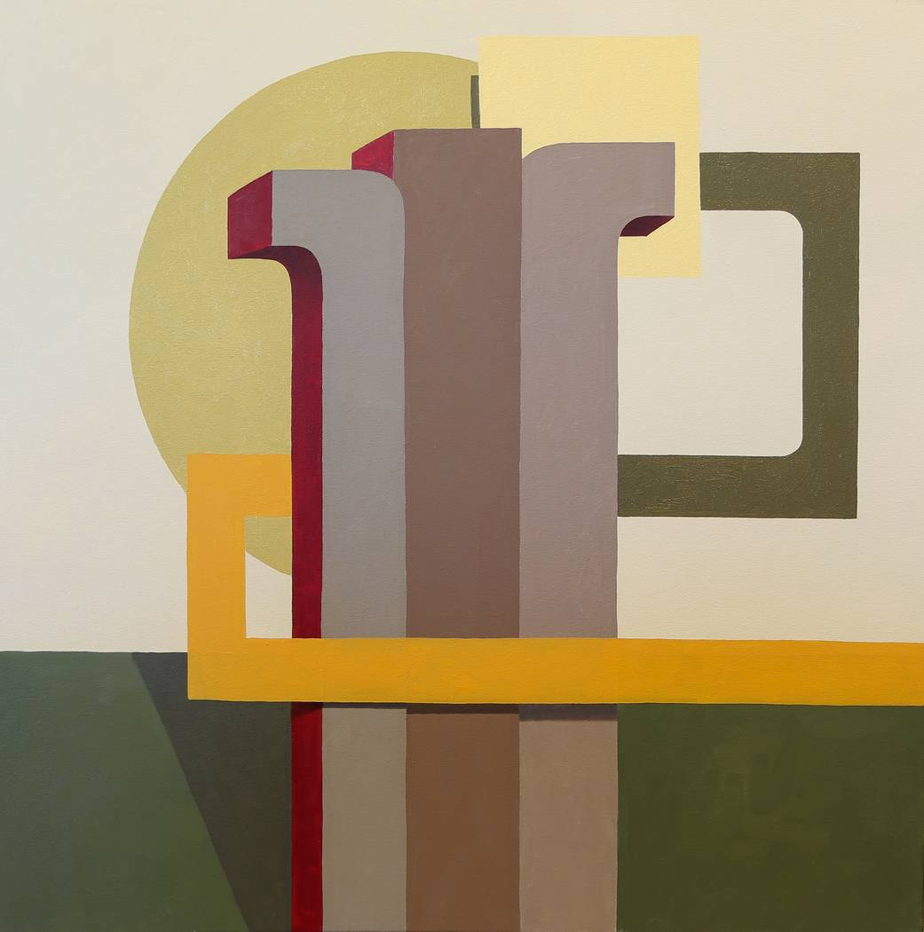"""""""Pillars,"""" an oil on canvas by Piotr Potoczny, is on display in the exhibit """"Pressure"""" at UNLV' ..."""