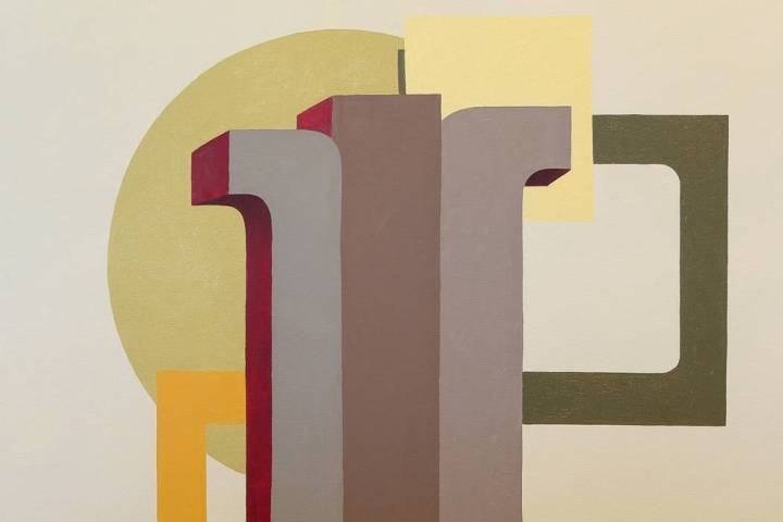 """""""Pillars,"""" an oil on canvas by Piotr Potoczny, is on display in the exhibit """"Pre ..."""