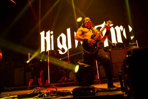 Matt Pike of High on Fire performs at the Mandalay Bay Events Center during the Psycho Las Vega ...