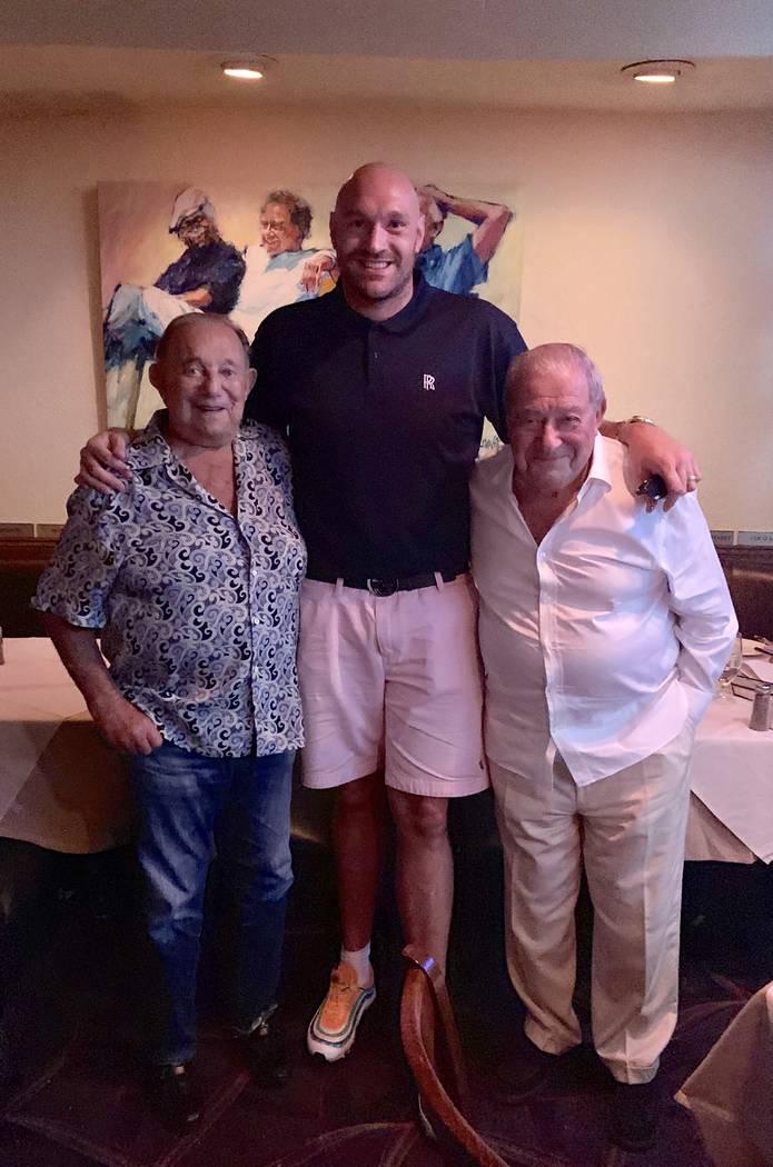 Piero's Italian Restaurant owner Freddie Glusman, heavyweight champ Tyson Fury and Top Rank Box ...