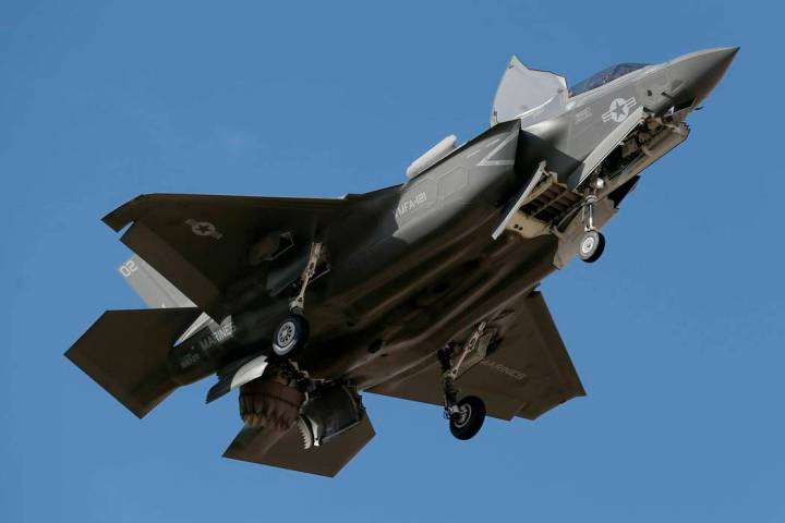 An F-35B fighter jet lands at Luke Air Force Base in this Tuesday, Dec. 10, 2013 file photo, in ...