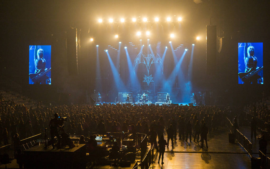 Triumph of Death performs at the Mandalay Bay Events Center during the Psycho Las Vegas music f ...